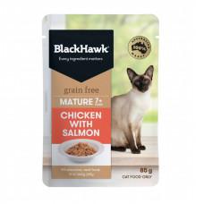優選無穀餐包85克【雞肉+鮭魚(熟齡貓)】(6入)(貓主食餐包)