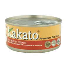卡格餐食罐170克【鮭魚高湯】(24入)(貓狗副食罐頭)(整箱罐罐)