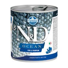 N&D挑嘴成犬海洋無穀主食罐285克【鱈魚南瓜】(24入)(狗主食罐)(整箱罐罐)