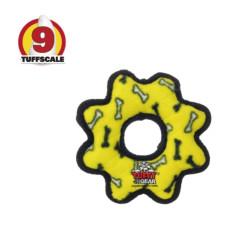 耐咬齒輪 黃色(小)(20*20*3公分)(狗玩具)