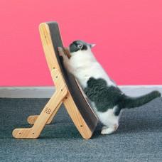 貓咪造型抓窩系列 三實而立變形抓板(55*32*13公分)(貓抓板)