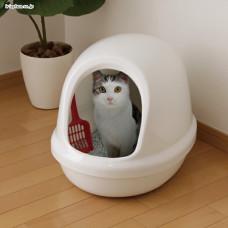 簡易半封閉式貓便盆 白(50*39.4*39公分)