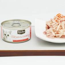 貓用 雞肉+螃蟹(24入) 80克 (整箱罐罐) (貓副食罐)