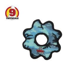 耐咬齒輪 迷彩藍(小)(20*20*3公分)(狗玩具)