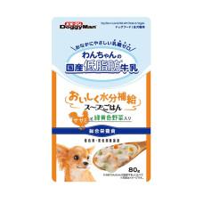 犬用餐包牛奶燉蔬菜80克 (低脂)(12入)(狗主食餐包)
