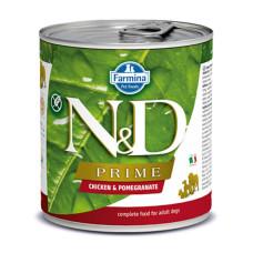 N&D挑嘴成犬天然頂級無榖主食罐285克【雞肉石榴】(1入)(狗主食罐)
