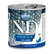 N&D挑嘴幼犬海洋無穀主食罐285克【鱈魚南瓜】(24入)(狗主食罐)(整箱罐罐)
