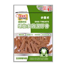 小型犬 螺旋多效潔牙骨 起司+雞肉(短) 大包裝 310克 (狗零食)