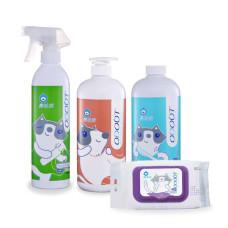 貓用【布天蓋地】除臭噴霧+地板清潔劑+布類洗潔液+抑菌濕紙巾