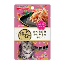 懷石海鮮湯餐包40克【鰹魚+蟹肉棒】(12入)(貓副食餐包)