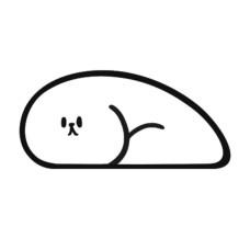 睡覺小動物貓抓板 小狗大白狗貓抓板(45*21*20公分)(貓抓板)