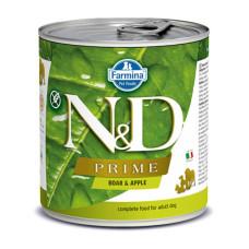 N&D挑嘴成犬天然頂級無榖主食罐285克【野豬蘋果】(24入)(狗主食罐)(整箱罐罐)