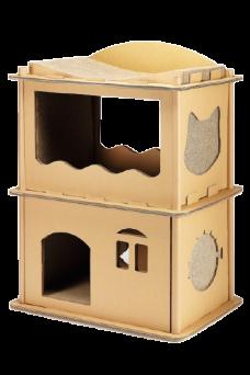 貓公寓(58x38x71公分)(貓抓板)