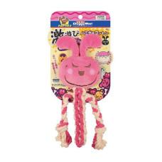 犬用棉繩潔牙玩具S 粉兔(10*22公分)(狗玩具)