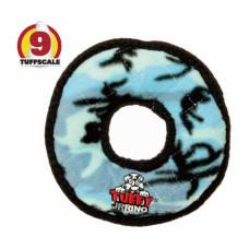 耐咬圈圈玩具 迷彩藍(小)(18x18x3公分)(狗玩具)