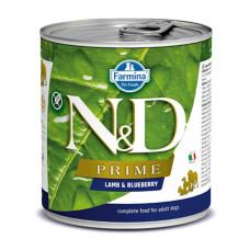 N&D挑嘴成犬天然頂級無榖主食罐285克【羊肉藍莓】(1入)(狗主食罐)