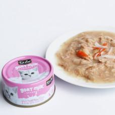 補水量upup! 貓咪超愛 山羊奶湯罐 鮪魚+螃蟹(24入) 70公克 (整箱罐罐) (貓副食罐)