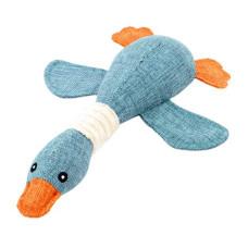 發聲鴨子 藍色(35公分)(狗玩具)