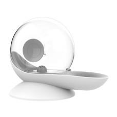 Buddylife蝸牛造型自動寵物飲水器2.8L(灰)