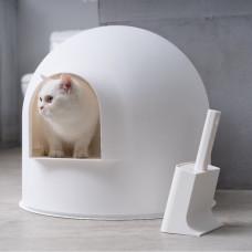 貓砂盆 雪屋(白)(含貓砂鏟不含底座)