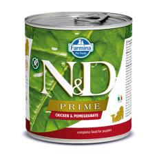 N&D挑嘴幼犬天然頂級無榖主食罐285克【雞肉石榴】(24入)(狗主食罐)(整箱罐罐)