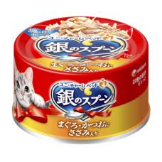 銀湯匙貓罐頭70克【鮪魚+雞肉】(6入)(貓副食罐頭)