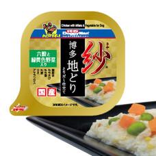 紗餐盒-日本博多放牧雞 六種穀物 100克 野菜(1入) (狗副食罐頭)