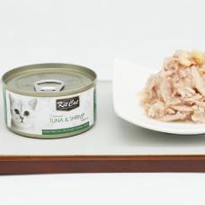 貓用 鮪魚+蝦蝦(24入) 80克 (整箱罐罐) (貓副食罐)