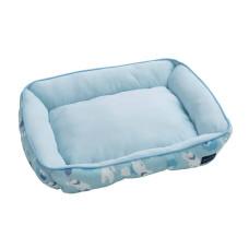 抗菌白熊涼感方形床(藍M)(61*48*13公分)