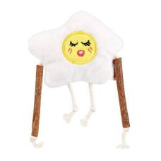 早餐家族毛絨玩具 煎蛋妹妹(10*8公分)(貓玩具)