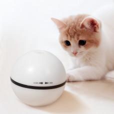 趣味逗猫球 白(81.5mm)(貓玩具)