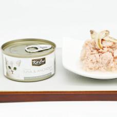 貓用 鮪魚+鯷魚(24入) 80克 (整箱罐罐) (貓副食罐)