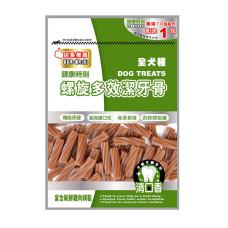 全犬種 螺旋多效潔牙骨 蝦紅素+雞肉(短) 大包裝 310克 (狗零食)