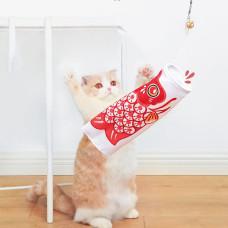 鯉魚旗逗貓棒 緋鯉(紅)(貓玩具)