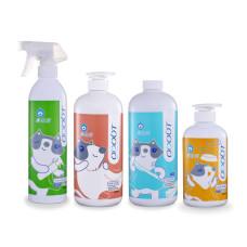 貓用【全面防味】除臭噴霧+地板清潔劑+布類洗潔液+食器洗滌劑