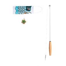 鯉魚旗逗貓棒 青鯉(綠)(貓玩具)