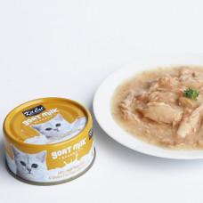 補水量upup! 貓咪超愛 山羊奶湯罐 鮪魚+煙燻魚片(24入) 70公克 (整箱罐罐) (貓副食罐)