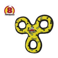 耐咬三圈飛盤 黃色(28*28*4公分)(狗玩具)
