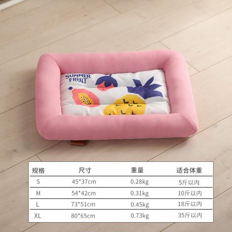 冰絲墊子方形冰窩 粉(80*65公分),bd_新品,bd_新品_20210629