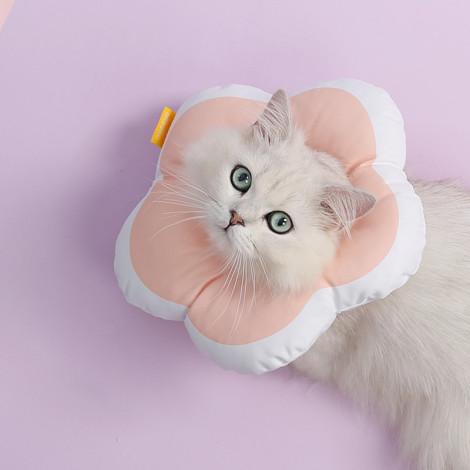 花朵可愛伊莉莎白項圈 粉 M (26*26公分),CSS_新品,bd_新品_20210629