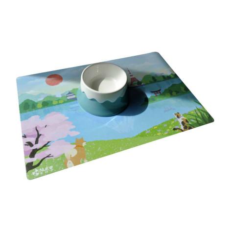 富士山景寵物餐墊(45*30公分) (不含單碗),bd_新品_20210421,CSS_新品,bd_熱銷餐碗