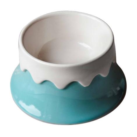 陶瓷富士山寵物碗 單碗 (藍),bd_新品_20210421,CSS_新品