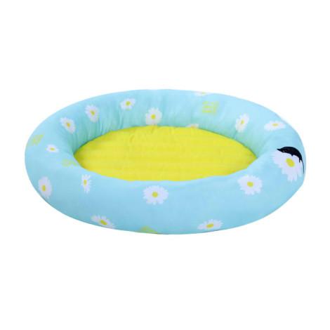 冰絲墊子圓形冰窩 藍雛菊(60公分),bd_新品,CSS_新品,bd_新品_20210629