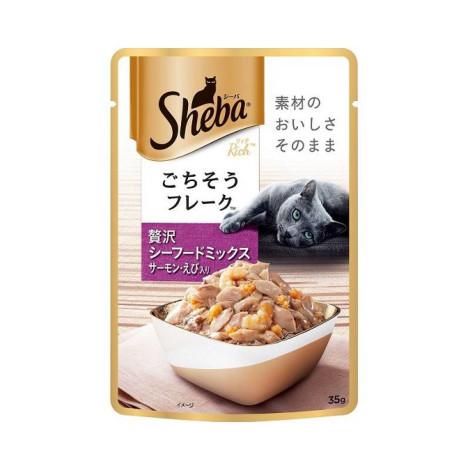日式鮮饌包 總匯系列 35克【海洋總匯(鮭魚+鮮蝦)】(6入) (貓副食罐頭),package:包,age:全齡