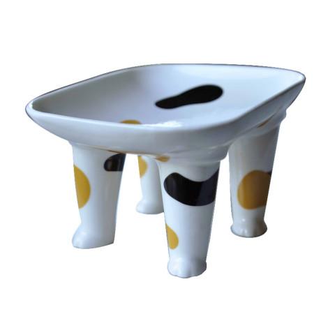 陶瓷寵物腳腳碗 三花貓,bd_新品_20210421,CSS_新品
