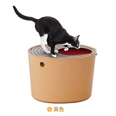 桶式貓便箱 黃(53*41*37公分),bd_新品_20210421