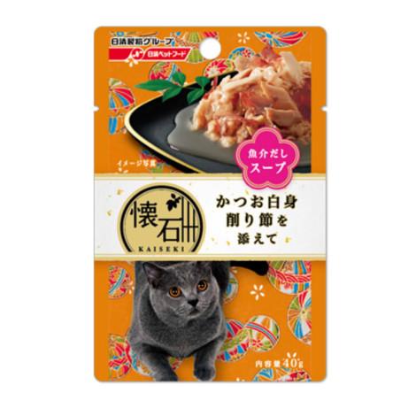 懷石海鮮湯餐包40克【鰹魚+柴魚】(1入)(貓副食餐包)