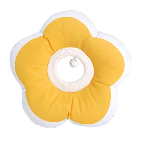 花朵可愛伊莉莎白項圈 黃 L(30*30公分),CSS_新品,bd_新品_20210629