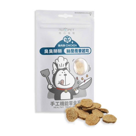 臭臭掰掰 絲蘭蕎麥起司雞肉餅50克(狗零食),CSS_新品,bd_新品_20210601