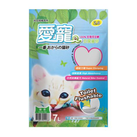 2.0豆腐砂 綠茶 7L(6入),CSS_貓砂滿388折30
